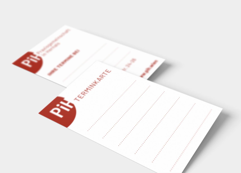 Design von Terminkarten
